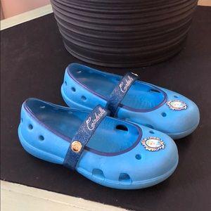 Cinderella Crocs with Glitter Band in EUC